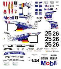 #25 Mobil 1 Porsche GT-1 1997 1/25th - 1/24th Scale Waterslide Decals