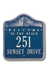 Whitehall Welcome to the Beach Address Marker Personalized Plaque in 17 Colors