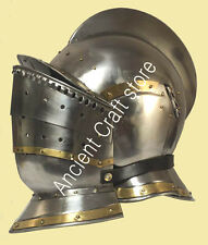 Burgonet Helmet - re-enactment / larp / role-play  + HELMET STAND