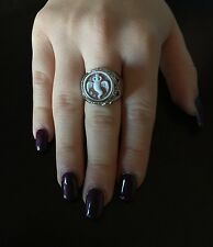 Anello in argento 925  cammeo corno sardonico ring cameo Made in Italy