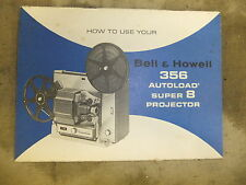 Instructions cine projector BELL & HOWELL 356 & 356X AUTOLOAD super 8 - CD/Email