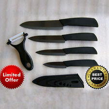 "3"" 4"" 5"" 6"" Ultra Sharp Ceramic Knife Set Kitchen Knives Black Blade Handle Home"