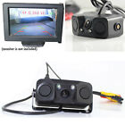 Waterproof Night Vision 2 LED Car Rear View Reverse Camera with 2 Parking Sensor