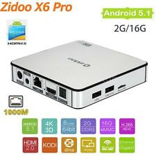 Zidoo X6 PRO Octa Core Dual Band WIFI 4K XBMC KODI Android 5.1 TV Box 1000M D2U1