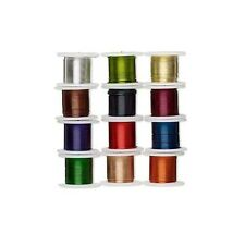Lot of 12 Assorted Color Copper 26 Gauge 0.40mm Zebra Wrapping Craft Wire Mix