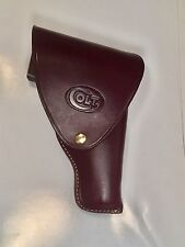 Leather Flap Holster for Colt 1911 With Colt Logo. #7115