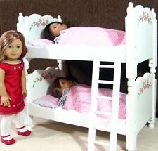 "NEW DELUXE FLORAL 20"" DOLL BUNK / DOUBLE BED go with AMERICAN GIRL etc."