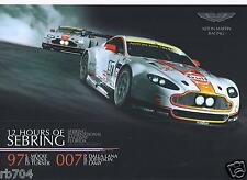 ALMS 2013 12 Hours of Sebring  Aston Martin Racing Hero Card