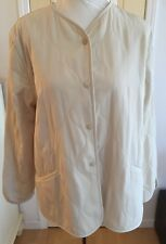 ARMANI COLLEZIONI Beige Snap BUTTON DOWN LINED LONG SLEEVE JACKET COAT SZ 12
