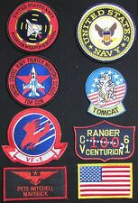 TOP GUN MAVERICK PETE MITCHELL US NAVY NAME TAG FLIGHT JACKET HOOK 8 PATCH SET