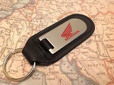 HONDA Key Ring Etched and infilled On Leather