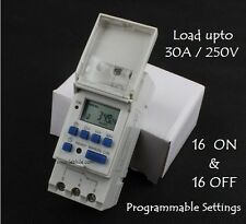 E11 Daily Weekly Programmable Electronic Timer Switch 220V AC 16A Relay MCB Type