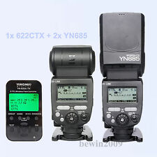 Yongnuo TTL 2pcsYN685 HSS Flash Speedlite + 1* YN622CTX Flash trigger for Canon
