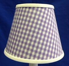 Orchid Lavender Gingham Check Chandelier / Electric Candle lampshade Lamp Shade