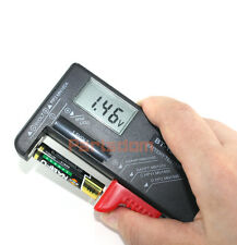 Universal Digital LCD Battery Checker Volt Tester Cell AA AAA C D 9V Button New