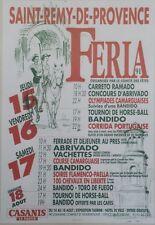 """""""FERIA SAINT-REMY-DE-PROVENCE 1991"""" Affiche originale entoilée  J. MARIGNAN"""