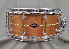 Craviotto Custom Snare Drum Solid Shell 6.5x14 Walnut w/ Maple Inlay