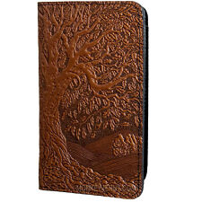 TREE OF LIFE Oberon Design Leather CHECKBOOK HOLDER/Cover Saddle-Brown oak CKM17