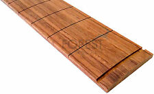 "Bubinga guitar fretboard, fingerboard 25.5"" Fender®, slotted, compound radius"