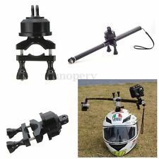360 Rotate Helmet Self Pole Mount Adapter For Gopro Hero 2 3 3+ 4 Session Camera