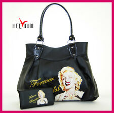 Marilyn Monroe Shoulder Bag & Wallet Set , Fashion Designer Handbag Purse