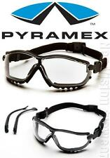 Pyramex V2G Clear Anti Fog Lens Padded Safety Glasses Hybrid Goggles Z87+