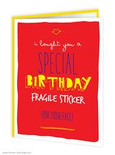 Brainbox Candy Cumpleaños Tarjetas de felicitación Funny Cheeky Broma Humor Especial frágil