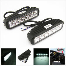 2 x 18W Spot LED Off Road ATV 4 x 4 Truck Fog Driving Lights Work Lamp For Chevy