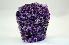 """Vibrant Violet AMETHYST Cathedral GEODE URUGUAY 3.7"""" Free Standing 93mm e2947x"""