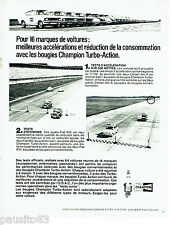 PUBLICITE ADVERTISING 026  1969  Champion  bougies Turbo-action Fiat 850