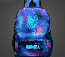 Attack on Titan Luminous Backpack Student Schoolbag Travel Bag Japan Anime