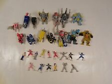 BIG LOT OF MIGHTY MORPHIN POWER RANGERS MICRO MACHINES FIGURES MMPR BANDAI