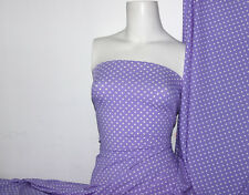 Plum /white Polka-dot Lycra/Spandex 4 way stretch Matt Finish Fabric
