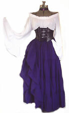 WOMEN'S RENAISSANCE STEAMPUNK OUTFIT COSTUME UNDERBUST CORSET PIRATE WENCH L XL