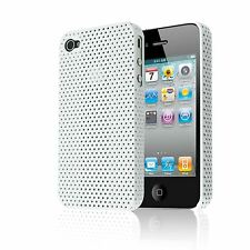 MESH PERFORATED HARD BACK CASE IMPACT PLASTIC COVER FOR APPLE IPHONE 4 4S 4G
