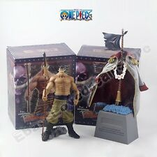 One Piece Grandline Men White Beard Edward Newgate & Tombstone PVC Figure Set WB
