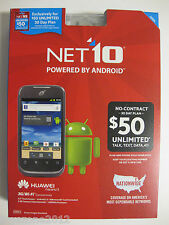 NET10 PREPAID PHONE HUAWEI ASCEND II 2 ANDROID 3G/WI-FI FACTORY SEALED