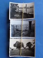 Foto 3x Westfront Frankreich 1940 Deutsche Soldatengräber in Les Peroches
