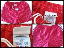 VINTAGE ADIDAS RED NYLON SPRINTER SHORTS RUNNING GLANZ PANTS SPORTOSE