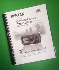 COLOR PRINTED Ricoh Pentax Camera WG-2/WG-2 GPS, User Guide 252 Pages