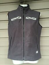 NEW BALANCE WOMEN'S FULL FLEECE FULL ZIP REFLECTIVE VEST GREY SMALL EUC! $90