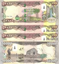 QUARTER MILLION MINT IRAQ 5 x 50000=250,000 NEW IRAQI DINAR IQD 2015-CERTIFIED!