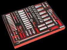 "Sealy herramienta Bandeja Con Socket Set 91pc 1/4, 3/8 "" & 1/2"" Sq Disco tbtp02"