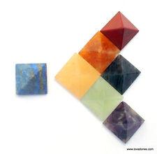 Crystal Set of Chakra Pyramid for Reiki Crystal Healing Spiritual Meditation