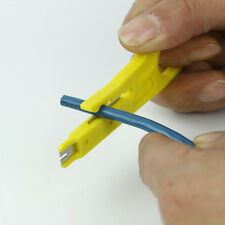 Wire Stripper Knife  Wire Cut Crimper Pliers Yellow New Plastic Kits Supplies