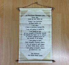 DALAI LAMA QUOTE PRECIOUS HUMAN LIFE HANDMADE PAPER WALLHANGING