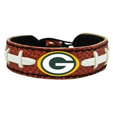 NFL Green Bay Packers Classic Football Bracelet Wristband Genuine Leather