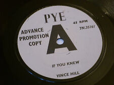 """Vince Hill:  If you knew   7""""      Rare Pye  PROMO"""