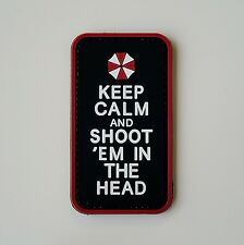 Keep Calm And Shoot 'Em - Morale patch badge pvc rubber hoop and loop tactical