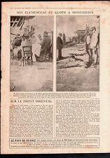 WWI Georges Clemenceau & Louis-Lucien Klotz Montdidier Mordacq 1918 ILLUSTRATION